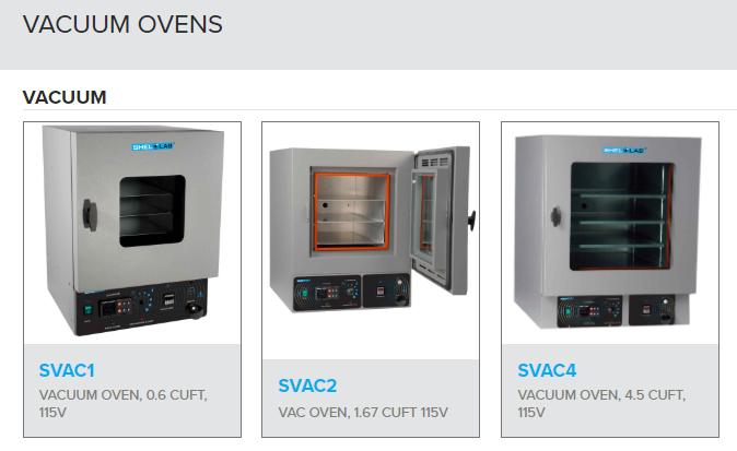 Vacuum Oven SVAC1, SVAC2, SVAC4